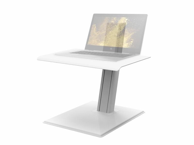 humanscale quickstand eco laptop steh sitz arbeitsplatz wei. Black Bedroom Furniture Sets. Home Design Ideas